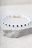 Vanessa Mooney Katherine Black and White Choker Necklace 2