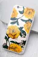 Sonix Poppy Clear and Yellow Floral Print iPhone 7 Case 1