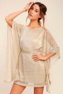 Ladies' Night Gold Kaftan Dress 3