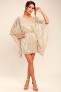 Ladies' Night Gold Kaftan Dress 2