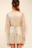 Ladies' Night Gold Kaftan Dress 4