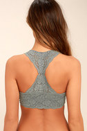 Free People Galloon Racerback Grey Lace Bralette 3