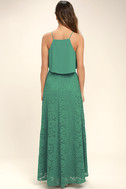 Love at First Sight Teal Lace Two-Piece Maxi Dress 2