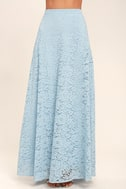 Love at First Sight Light Blue Lace Two-Piece Maxi Dress 5