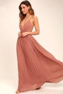 Depths of My Love Rusty Rose Maxi Dress 2