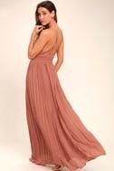 Depths of My Love Rusty Rose Maxi Dress 3
