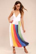 Put on a Show Lavender Striped Midi Skirt 2