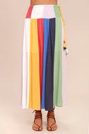 Put on a Show Lavender Striped Midi Skirt 3