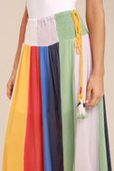 Put on a Show Lavender Striped Midi Skirt 6