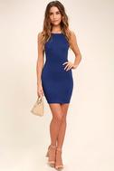 Heart's Content Royal Blue Bodycon Dress 2