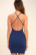 Heart's Content Royal Blue Bodycon Dress 4
