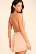 Star Spangled Blush Pink Backless Lace Romper 3