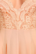 Star Spangled Blush Pink Backless Lace Romper 6