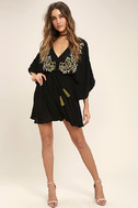 Belize in Magic Black Embroidered Dress 3