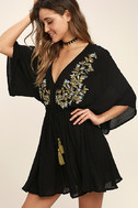 Belize in Magic Black Embroidered Dress 4