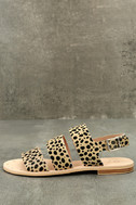 Matisse Owen Leopard Pony Fur Sandals 2