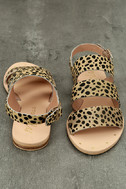 Matisse Owen Leopard Pony Fur Sandals 3