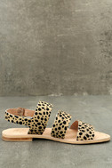 Matisse Owen Leopard Pony Fur Sandals 4