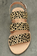 Matisse Owen Leopard Pony Fur Sandals 5