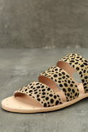 Matisse Owen Leopard Pony Fur Sandals 6