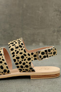 Matisse Owen Leopard Pony Fur Sandals 7