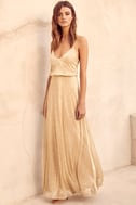 Friend of the Glam Gold Maxi Dress 2