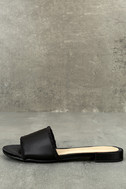Chinese Laundry Pattie Black Satin Slide Sandals 2