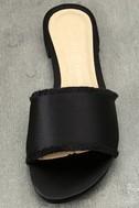 Chinese Laundry Pattie Black Satin Slide Sandals 5