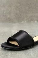 Chinese Laundry Pattie Black Satin Slide Sandals 6