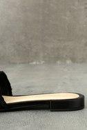 Chinese Laundry Pattie Black Satin Slide Sandals 7