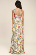Lilja Cream Floral Print Maxi Dress 4