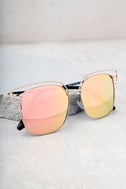 Light Years Gold and Pink Mirrored Sunglasses 2