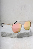 Light Years Gold and Pink Mirrored Sunglasses 3