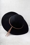 Dear Dreamer Black Floppy Wool Hat 3