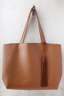 Timeless Beauty Brown Tote 3