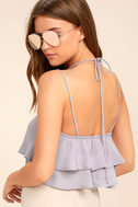 Better and Better Lavender Crop Top 3