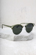 Digging It Matte Olive Green Sunglasses 3