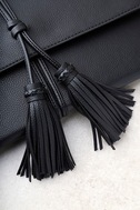 Indra Black Tassel Clutch 3