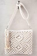 Kaia Cream Crocheted Crossbody Purse 2