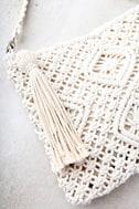 Kaia Cream Crocheted Crossbody Purse 3