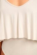 Somebody's Baby Cream Bodysuit 6