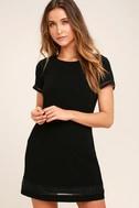 Perfect Time Black Shift Dress 1