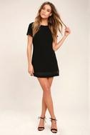 Perfect Time Black Shift Dress 2