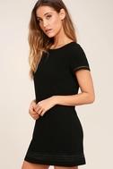 Perfect Time Black Shift Dress 3