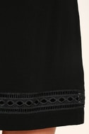 Perfect Time Black Shift Dress 6