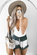 Let's Explore Sage Green Tie-Dye Shorts 7