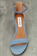 Steve Madden Irenee Light Blue Nubuck Leather Ankle Strap Heels 5