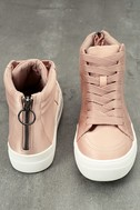 Steve Madden Golly Blush Satin High-Top Sneakers 3