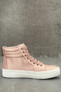 Steve Madden Golly Blush Satin High-Top Sneakers 4