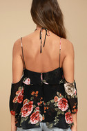 For the Love of Flowers Black Floral Print Top 4